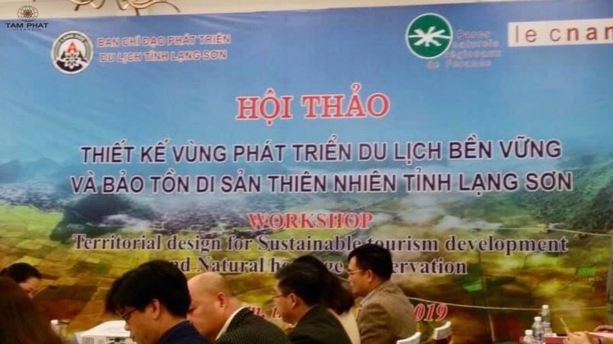 """Hội thảo """"Thiết kế vùng phát triển du lịch bền vững và bảo tồn di sản thiên nhiên tỉnh Lạng Sơn"""""""